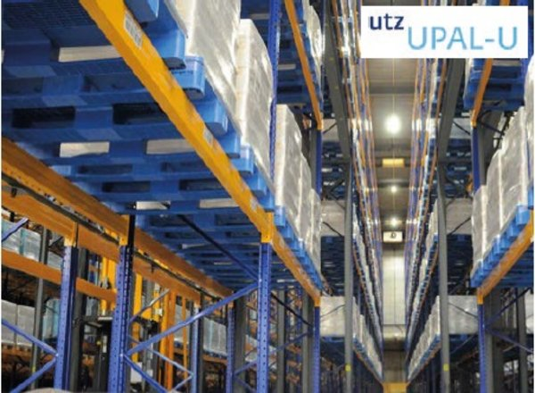 How do Utz plastic containers and pallets support sustainability?