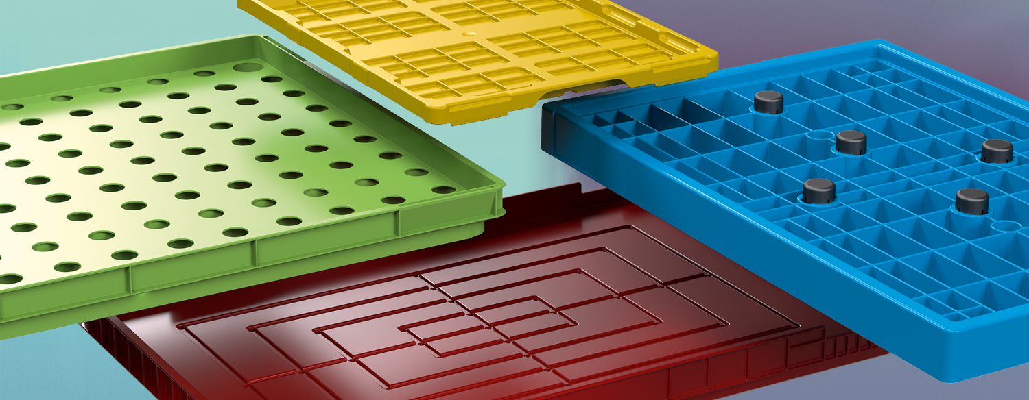 Material construction of various plastic packaging