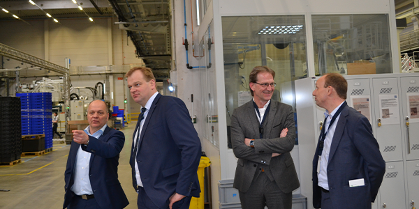 Albert Stegemann visits the plastics network of the Ems axis